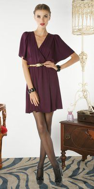 Love wrap dresses for fall -  #dresses #fall Visit http://formal-dresses-for-women.com/by-season/fall-dresses/ to buy the latest in Fall Dresses!