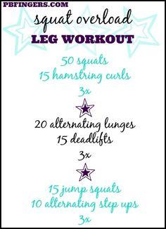 Squat Overload Leg Workout