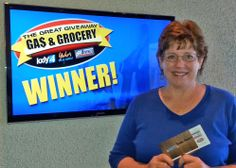 Pamela Brossoit won $100 in The Great Gas & Grocery Giveaway from KXLY4, Divine's & Yokes.