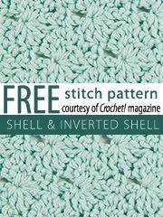 invert shell, crochet stitch, shell stitch, stitch patterns