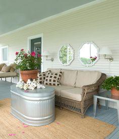 country porches, sun porches, countri porch, porch tables, back porches, diy, patio plants
