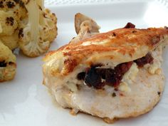 Sun-dried Tomato and Goat Cheese Stuffed Chicken | OAMC from Once A Month Mom