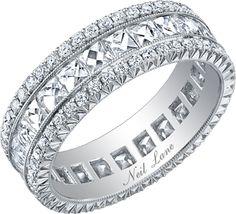Neil Lane French cut diamond and platinum band, R05290  http://www.neillanejewelry.com