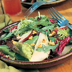 Field Salad with Pears and Blue Cheese | Diabetic Sides and Salads  | MyRecipes.com