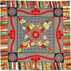 color, medallion quilt, round robin