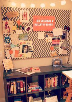 DIY Chevron Bulletin Board