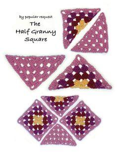 Half Granny Square. Blanket. Shawl. Scarf. Hat.