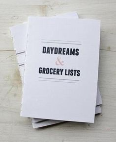Daydreams   Grocery Lists Notebook Set / Fair Morning Blue