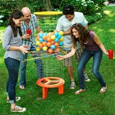DIY Kerplunk game for the backyard