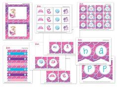 free printable barbie party designs - super cute Barbie Mermaid swim party ideas!!