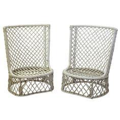 1stdibs | 1960's Palm Beach High Back Rattan Chairs