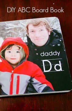 A Custom ABC Board Book - A great #DIY gift idea. #fathersday