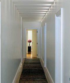 corredor, branco, iluminação