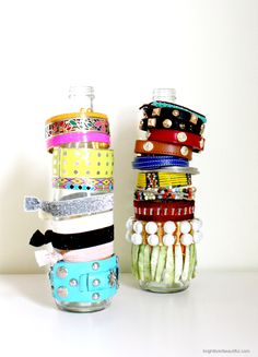 Make Jewelry Holders from Recycled Bottles | Easy #DIY Projects | Bright Bold and Beautiful