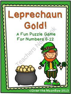 leprechaun gold- free number match ups