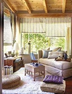 Terrazas on pinterest garden furniture painted floors - Decoracion de porches ...