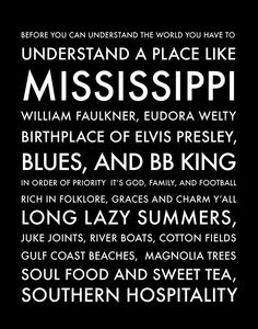 Mississippi - Part of the South