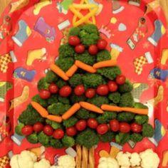 Christmas veggie appetizer
