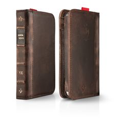 Leather Book iPhone Case