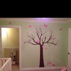 tree decal, girl nurseries, owl, decal idea
