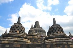 Perforated stupas on