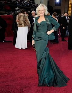 Glenn Close in a Zac Posen gown @ The Academy Awards 2012