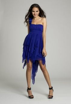 Homecoming Dresses - Rosette One Shoulder Dress from Camille La Vie and Group USA