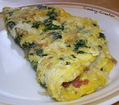 Pancetta and Spinach Omelette