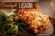 Enjoy both of these crockpot lasagna recipes. Make mealtime easy and delicious for those hectic evenings. 2 recipes, both delicious! TodaysCreativeBlog.net