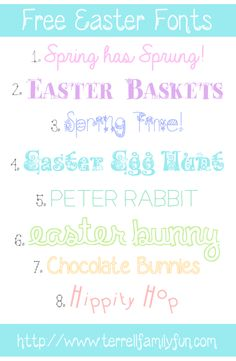 8 Free Easter Fonts  ~~ {w/ easy download links}