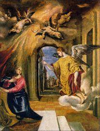 Archangel Gabriel roman art, annunci, madrid, la anunciación, del prado, el greco, blog, paintings, guardian angels