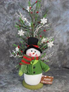 Snowman Christmas Tree Centerpiece Christmas