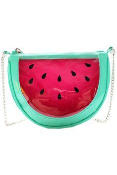 watermelon chain shoulder bag