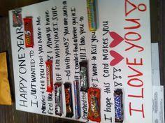 Candy bar card!