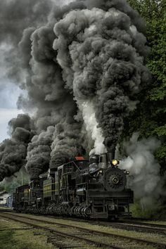 "♂ Train #wheels #transportation ""Three Shray at Cass rr at full throttle"" by Mark Serfass"