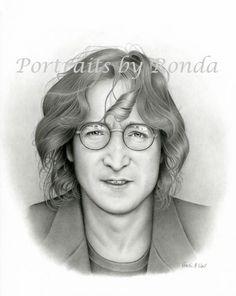 John Lennon pencil drawing