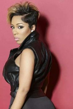 K Michelle Short Hairstyles Michelle Hair on Pinterest | K Michelle, Red Weave Hairstyles and S ...