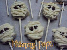 holiday, halloween parties, halloween recipe, oreo pops, mummi pop