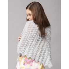 Free Knitting pattern Chevron Lace Shawl or Scarf