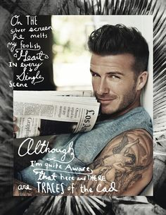 David Beckham in Elle Magazine