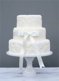 Champagne Lace wedding cake