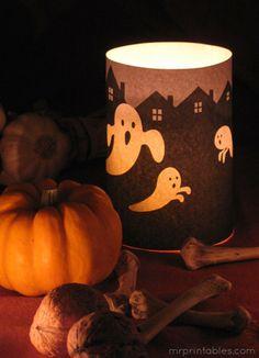 Halloween Printable candle wrap
