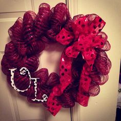 University of Louisville deco mesh wreath