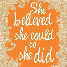 Believe. Tat idea