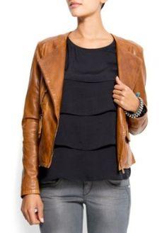 Mango Women's Leather Jacket