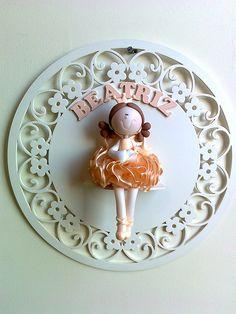 Porta Maternidade Princesa fada p/ Beatriz =) | Flickr: Intercambio de fotos