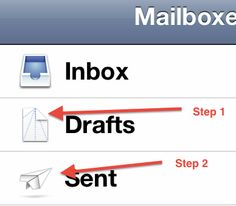 iOS Mail - The icons represent instructions on how to fold a paper airplane.