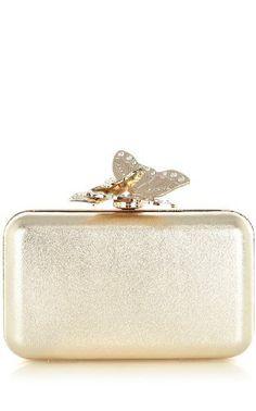 Karen Millen Metallic Butterfly Clutch