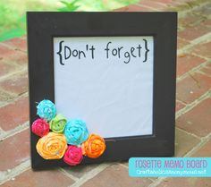 Fabric Rosettes for a DIY message board