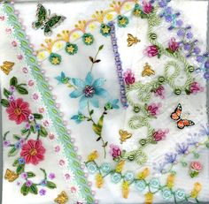 I ❤ crazy quilting . . . Floral Crazy Quilt Block 5 ~By Kitty And Me